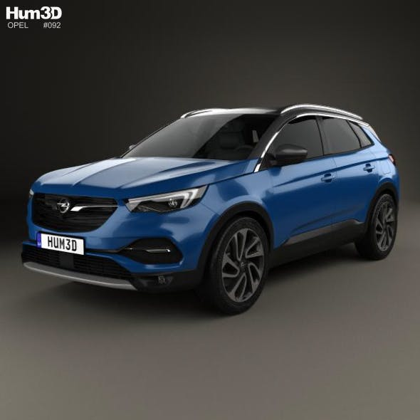 Opel Grandland X 2017 - 3DOcean Item for Sale