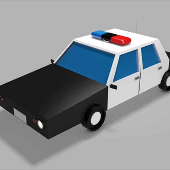 Low Poly Police Car