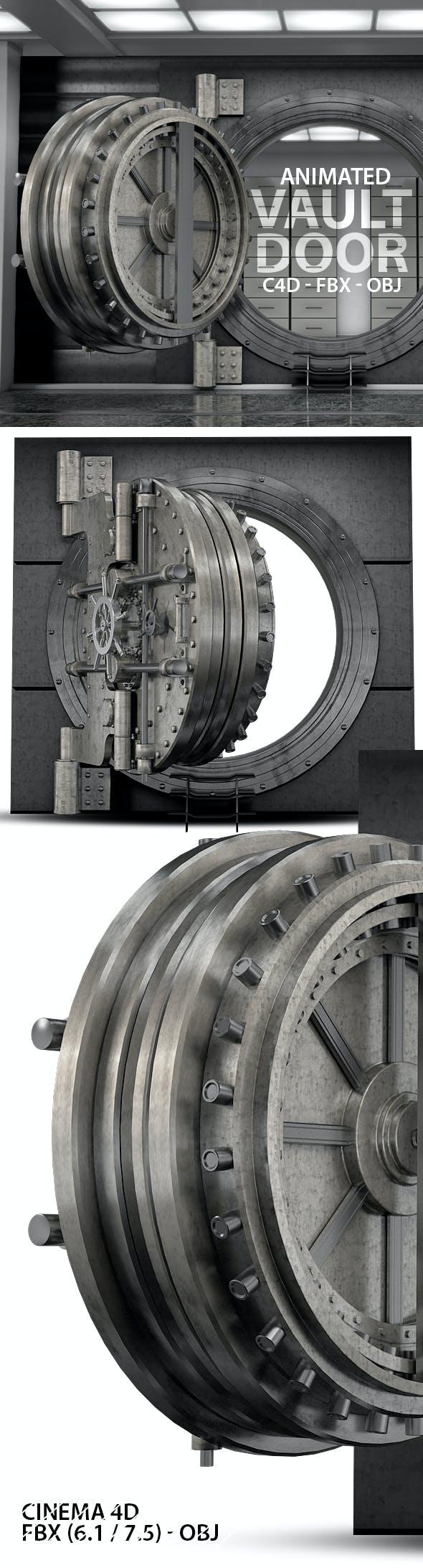 Heavy Vault Door 3D Model - 3DOcean Item for Sale
