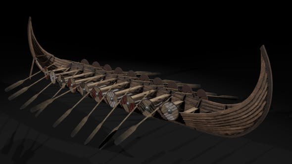 The Kvalsund vikings Ship low-poly - 3DOcean Item for Sale