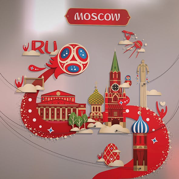 Official World Cup 2018 Russia host city MOSCOW - 3DOcean Item for Sale