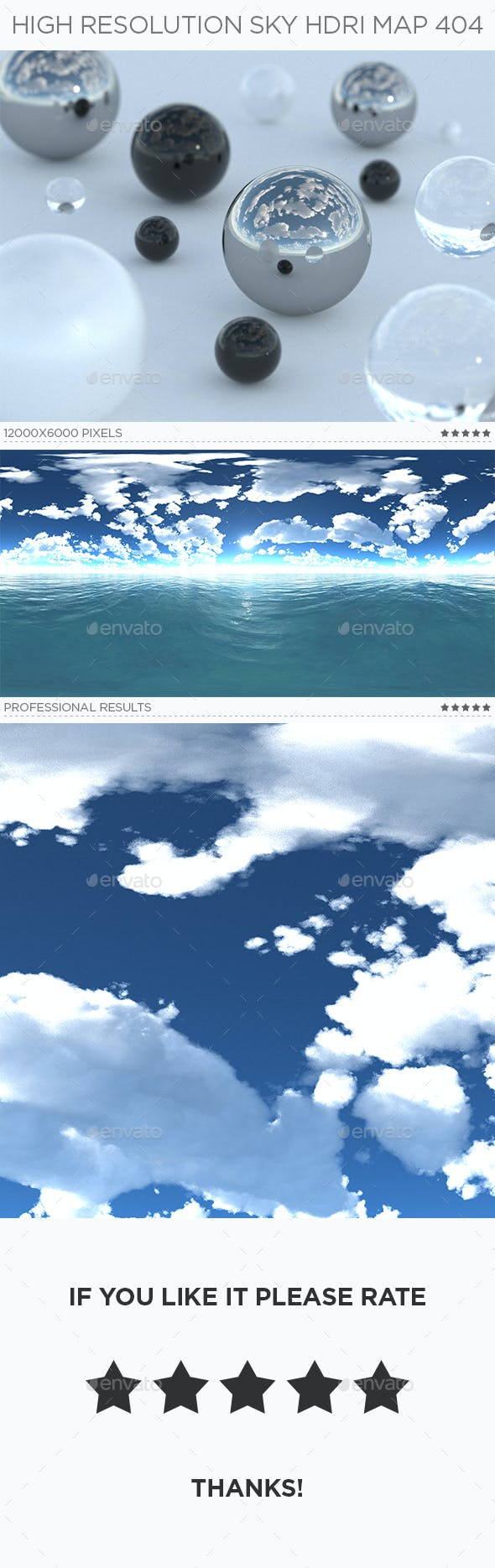 High Resolution Sky HDRi Map 404 - 3DOcean Item for Sale