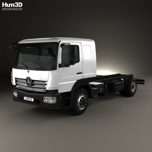 Mercedes-Benz Atego L-Cab Chassis Truck 2013 - 3DOcean Item for Sale