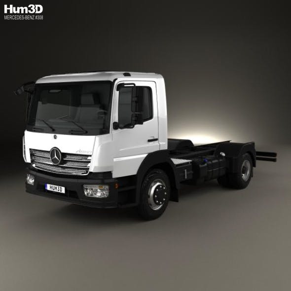 Mercedes-Benz Atego S-Cab Chassis Truck 2013 - 3DOcean Item for Sale