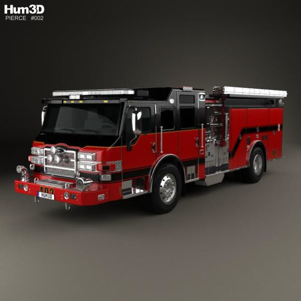 Pierce E402 Pumper Fire Truck 2014 - 3DOcean Item for Sale
