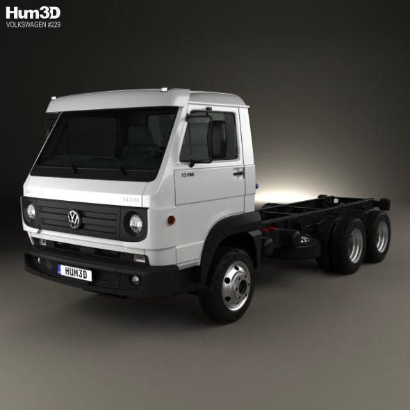 Volkswagen Delivery (13-160) Chassis Truck 3-axle 2015 - 3DOcean Item for Sale