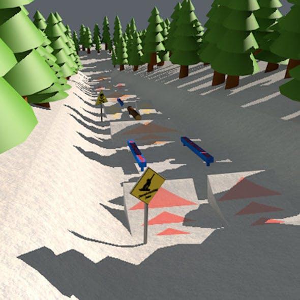Snow park cartoon - 3DOcean Item for Sale