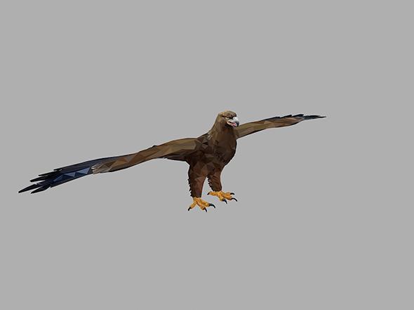 low polygon art Eagle - 3DOcean Item for Sale