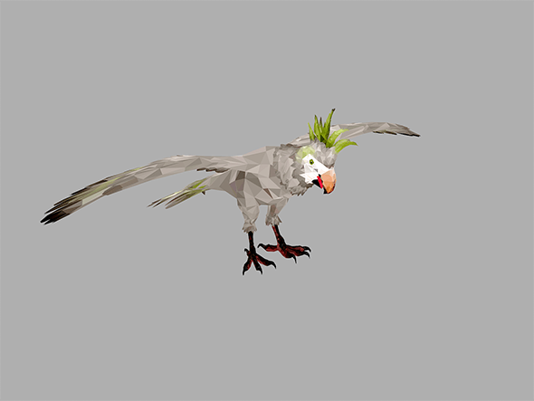 Low Poly art Parrot Bird - 3DOcean Item for Sale