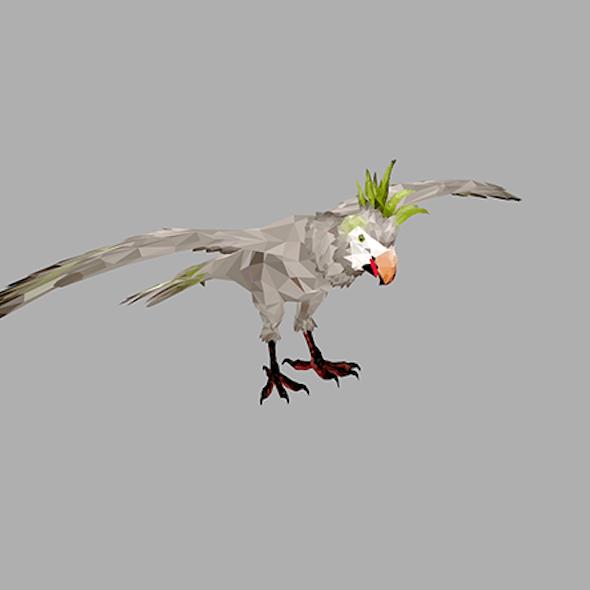 Low Poly art Parrot Bird