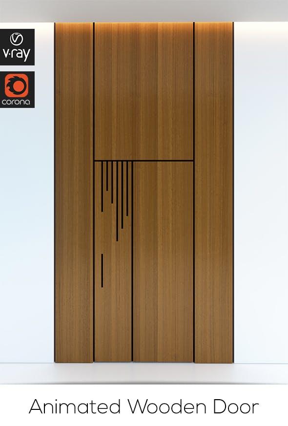 Contemporary Wooden Door - 3DOcean Item for Sale