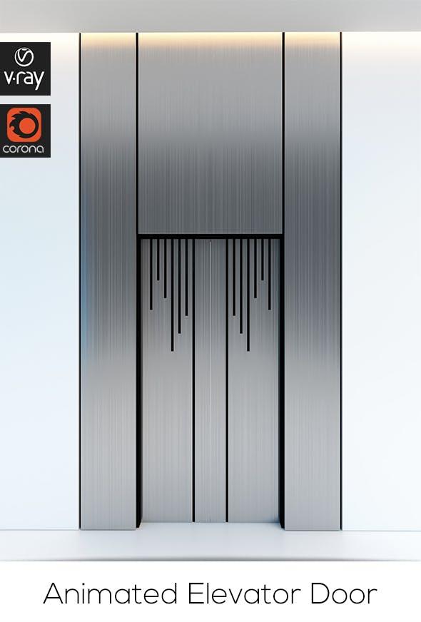 Contemporary Elevator Metal Door - 3DOcean Item for Sale