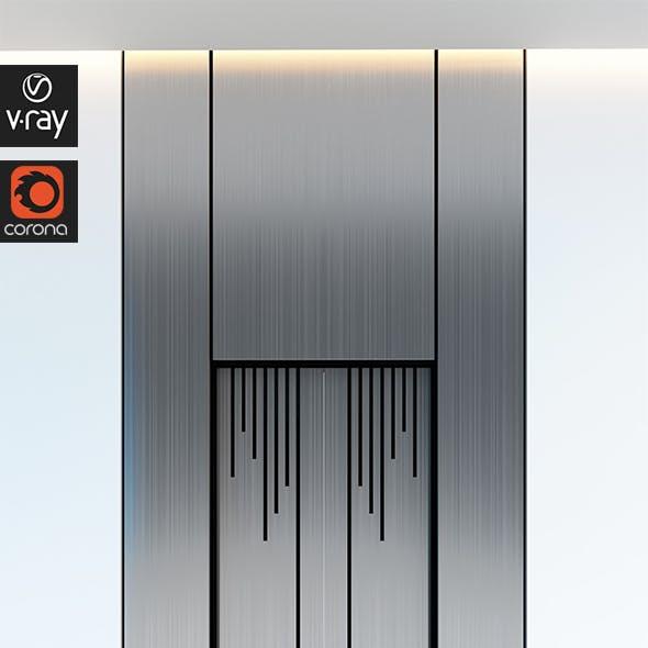 Contemporary Elevator Metal Door