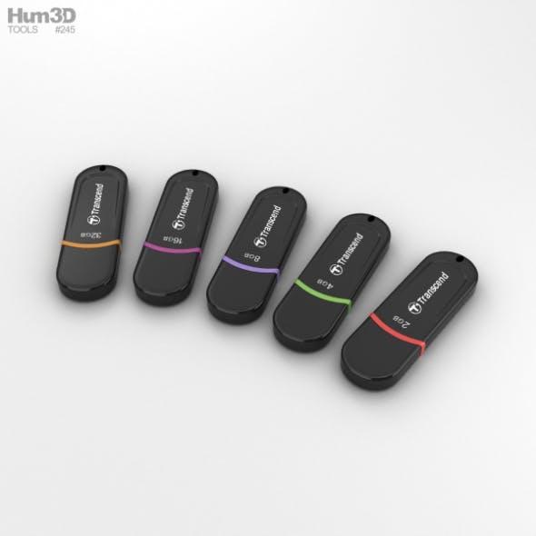 Transcend USB Flash Drive set - 3DOcean Item for Sale