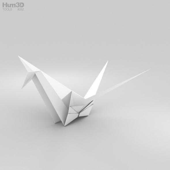 Origami Crane - 3DOcean Item for Sale