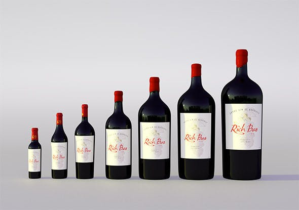 Wine bottles collection - 3DOcean Item for Sale