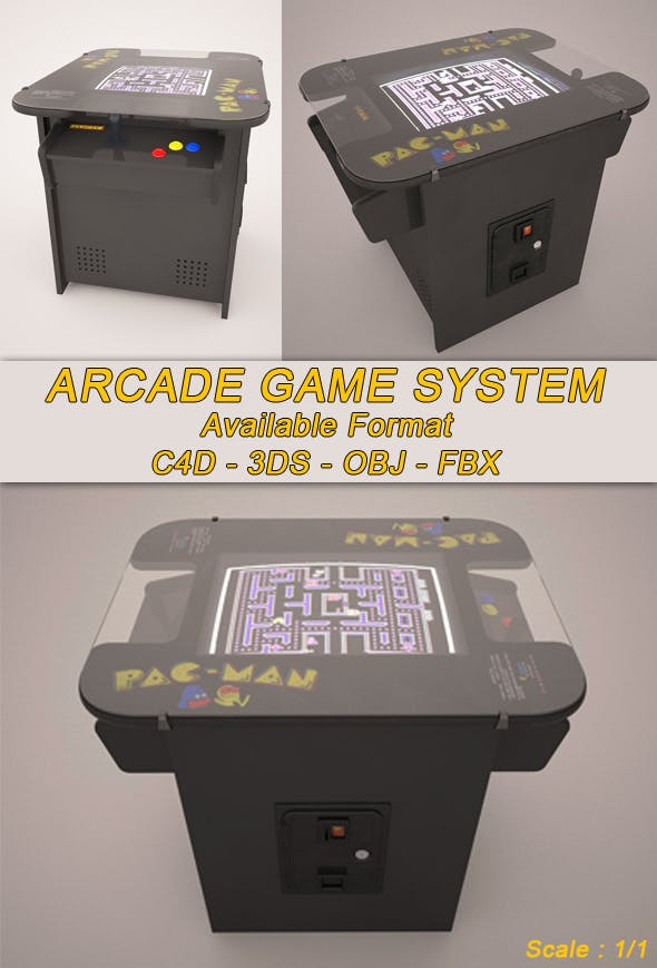 Arcade Game Machine - 3DOcean Item for Sale