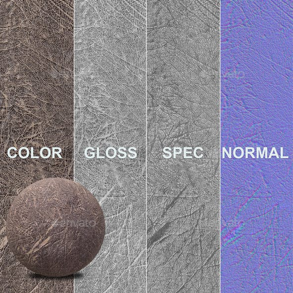 High resolution leather texture - 3DOcean Item for Sale