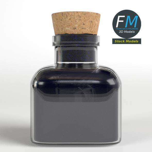 Vintage ink bottle - 3DOcean Item for Sale