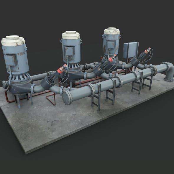 Machinery device. Pump station