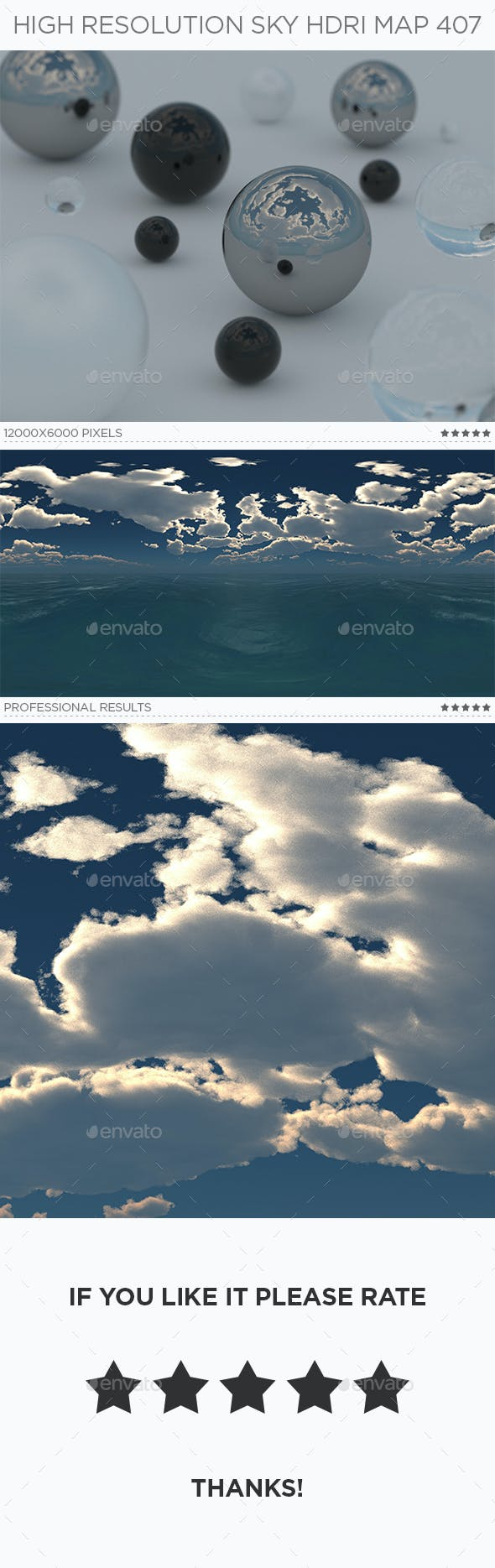 High Resolution Sky HDRi Map 407 - 3DOcean Item for Sale