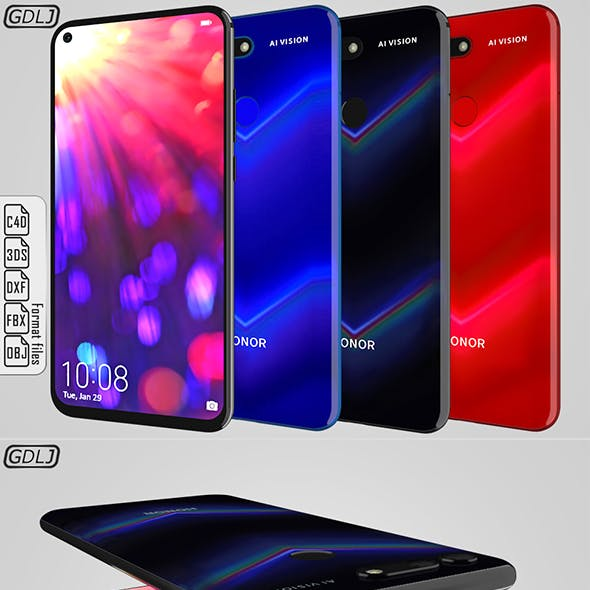 Huawei Honor View 20 [ Black, Blue, Red ]