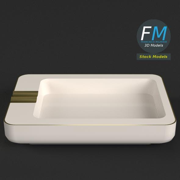 Rectangular ceramic ashtray - 3DOcean Item for Sale