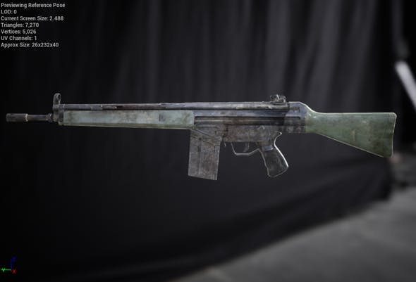 G3A4 Rifle - 3DOcean Item for Sale