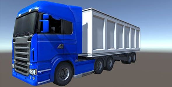 Industry Heavy Load Truck 1 - 3DOcean Item for Sale
