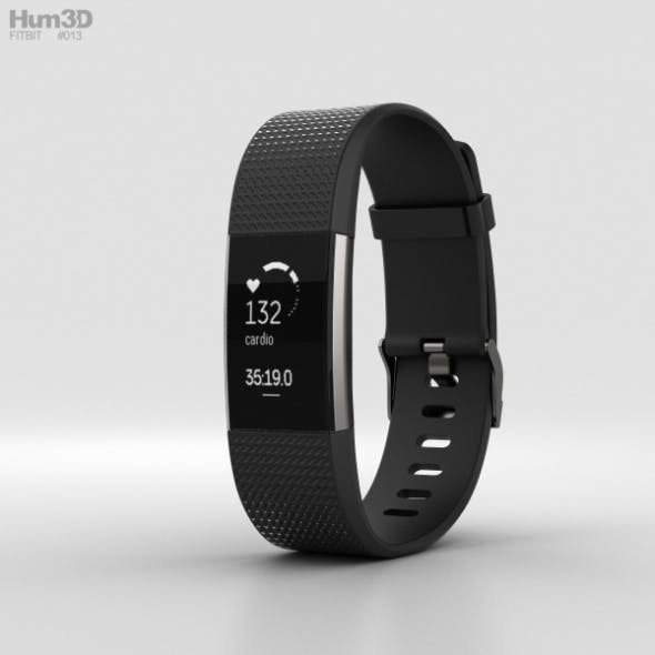 Fitbit Charge 2 Black - 3DOcean Item for Sale