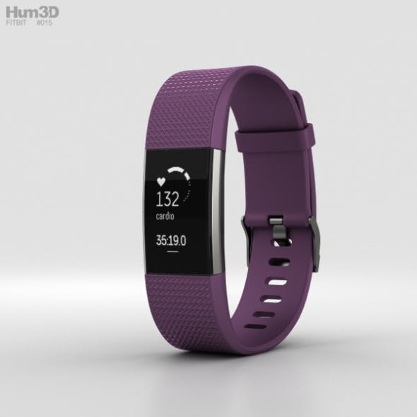 Fitbit Charge 2 Plum - 3DOcean Item for Sale