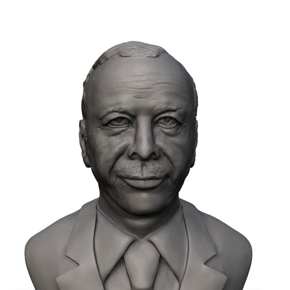 3D Print Model of Recep Tayip Erdogan