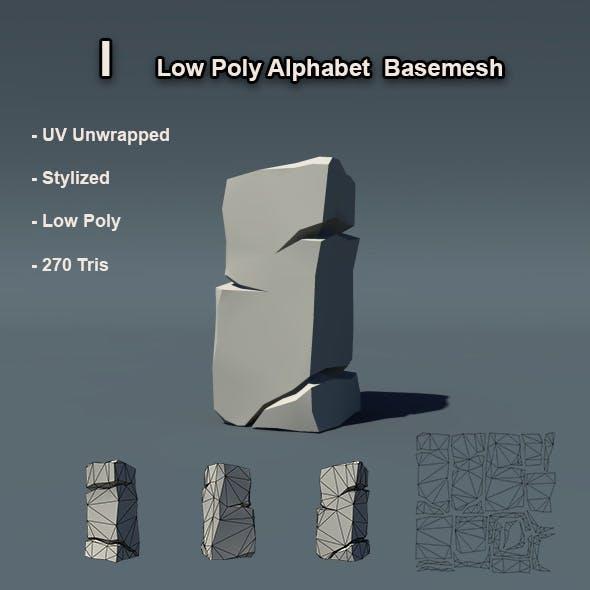 I Alphabet Low Poly Basemesh - 3DOcean Item for Sale