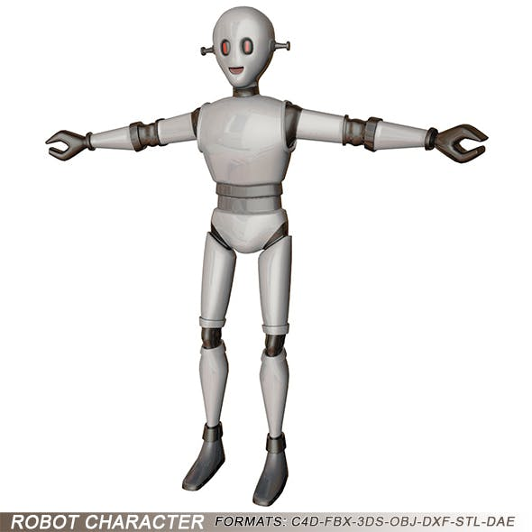 Robot Character - 3DOcean Item for Sale