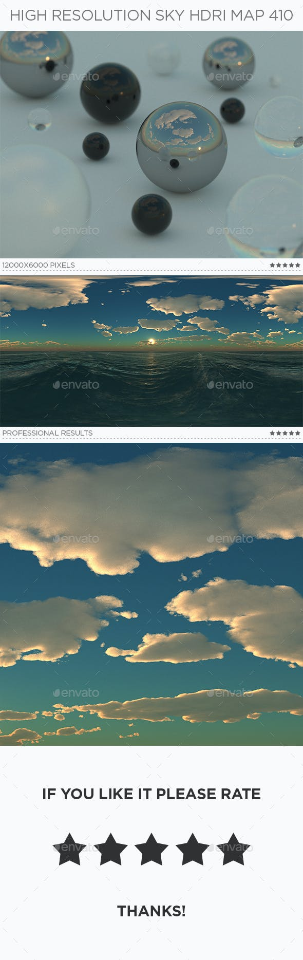 High Resolution Sky HDRi Map 410 - 3DOcean Item for Sale
