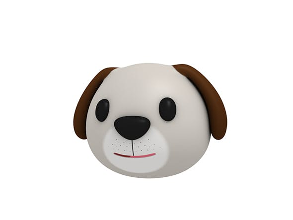 Dog Head - 3DOcean Item for Sale