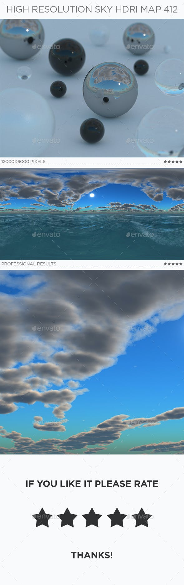 High Resolution Sky HDRi Map 412 - 3DOcean Item for Sale