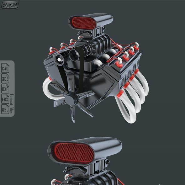 Car Engine 8 cylinders