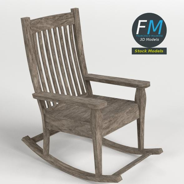 Old rocking chair - 3DOcean Item for Sale