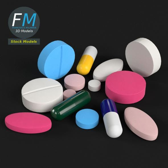 Pharma pills tablets - 3DOcean Item for Sale