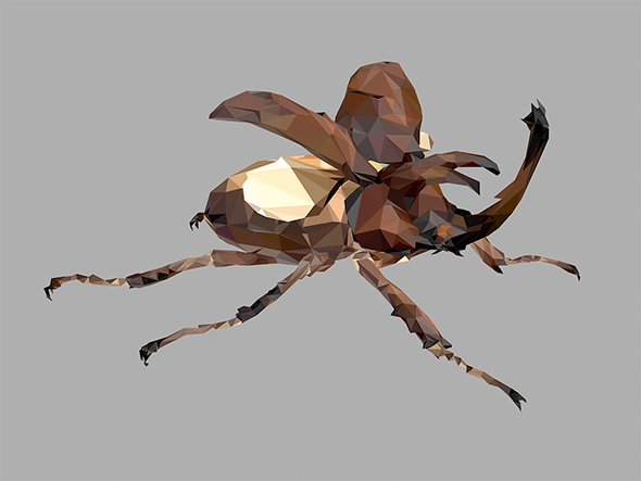 Low Poly Art Giant Beetle Insect - 3DOcean Item for Sale
