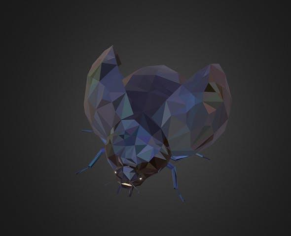 Bug Ladybug Black Low Polygon Art Insect - 3DOcean Item for Sale