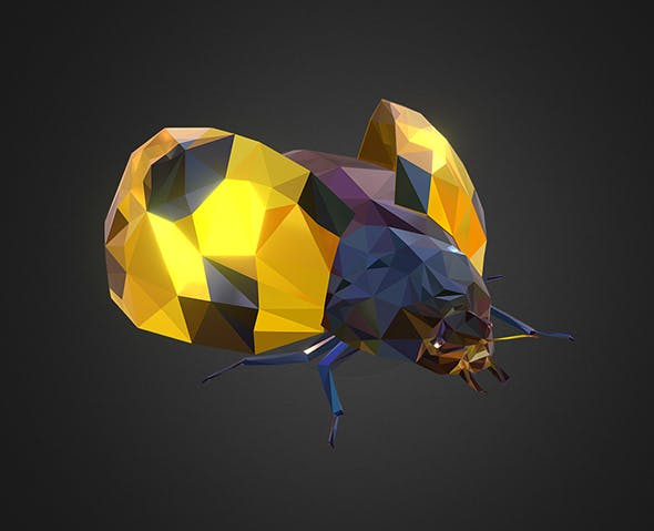 Bug Ladybug Yellow Low Polygon Art Insect - 3DOcean Item for Sale