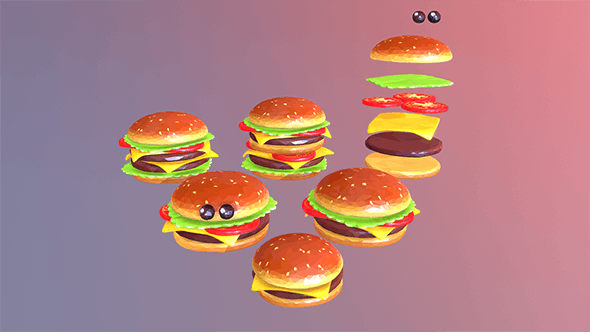burger - 3DOcean Item for Sale