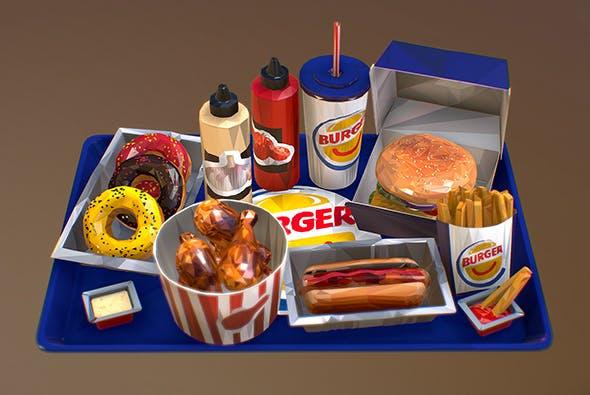 Fast food - 3DOcean Item for Sale