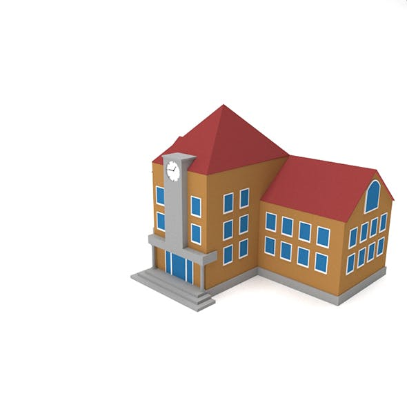 Game Ready School building - 3DOcean Item for Sale