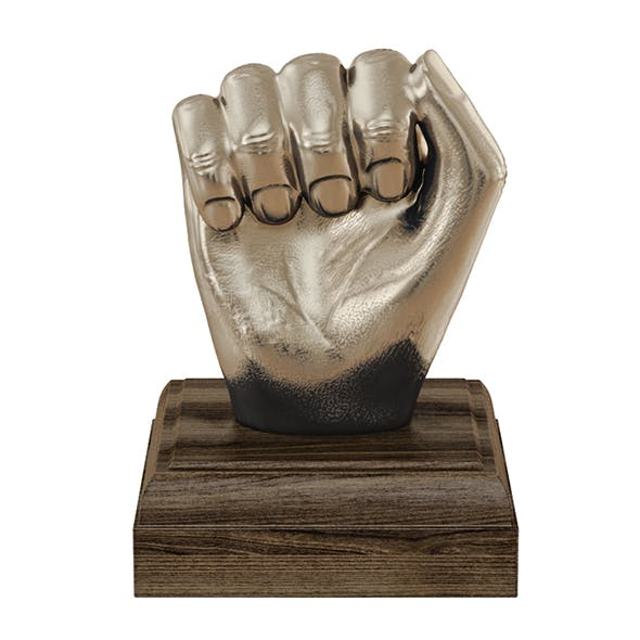 Kingston Hand Fist Decor Sculpture - 3DOcean Item for Sale