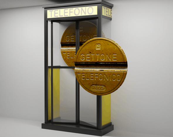 Italian telephone cab SIP - 3DOcean Item for Sale