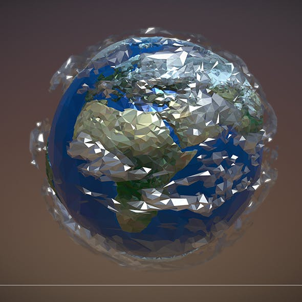 Low Polygon Art Planet Earth - 3DOcean Item for Sale