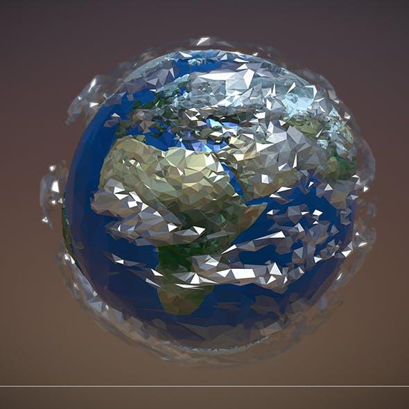 Low Polygon Art Planet Earth